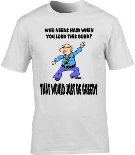 Lustig Herren T-Shirt Glatzköpfig Mann Vater Ehemann Birthday Weihnachtsgeschenk