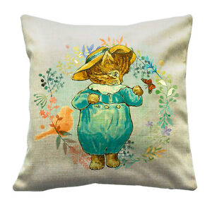 16X16 Beatrix Potter Cushion / Throw Pillow Traditional Design eBay