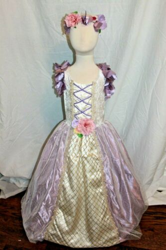 Boutique Fairy Princess Rapunzel Deluxe Aurora Flower Costume Dress Queen NEW
