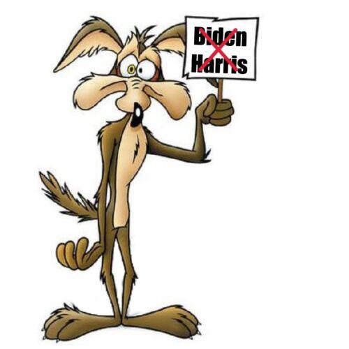 Wiley Coyote Biden//Harris Sticker
