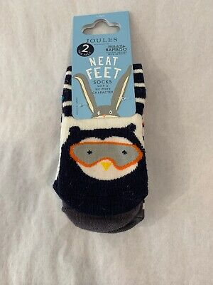 NWT Joules Girls Cat//Dog Neat Feet Socks Size 1-2 Years