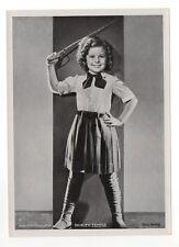 "Shirley Temple 1937 Union Dresden Film Star Series 6 5""X7"" Cigarette Photo Card"