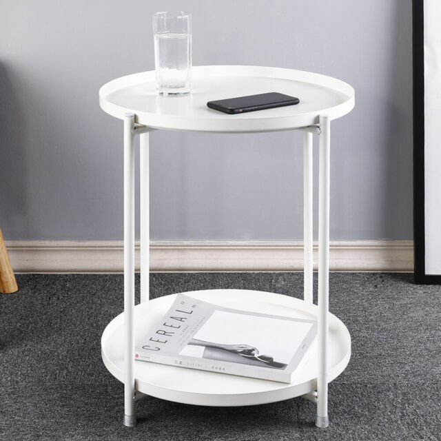 Sofa Arm Tray Table With 2 Cup Holders Elegant Model And Design For - Sofa Side Table With Cup Holder