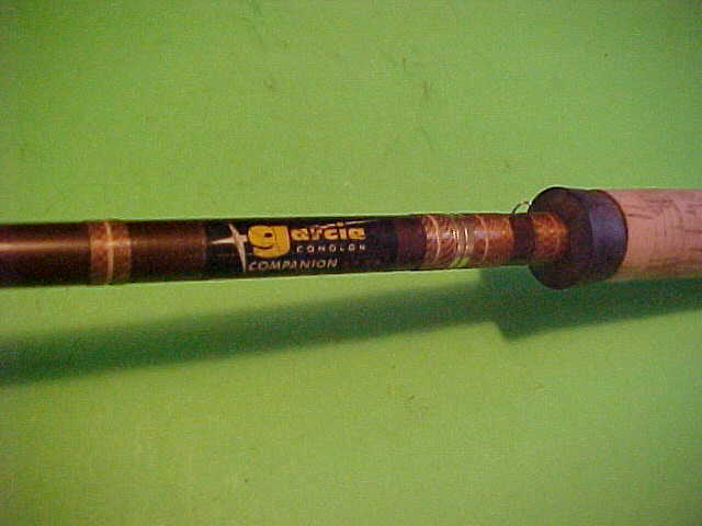 VINTAGE GARCIA CONOLON 8 FOOT 6 INCH, 10 TO 25RATED CONVENTIONAL FISHING ROD