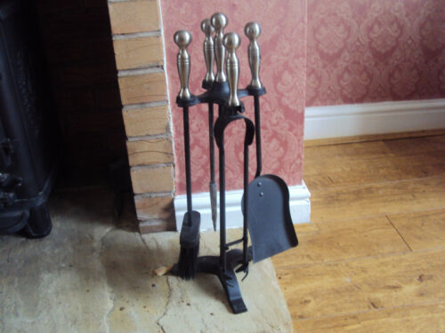 "COMPANION SET BLACK//PEWTER HEIGHT 22/"" FIRESIDE ACCESSORIES"