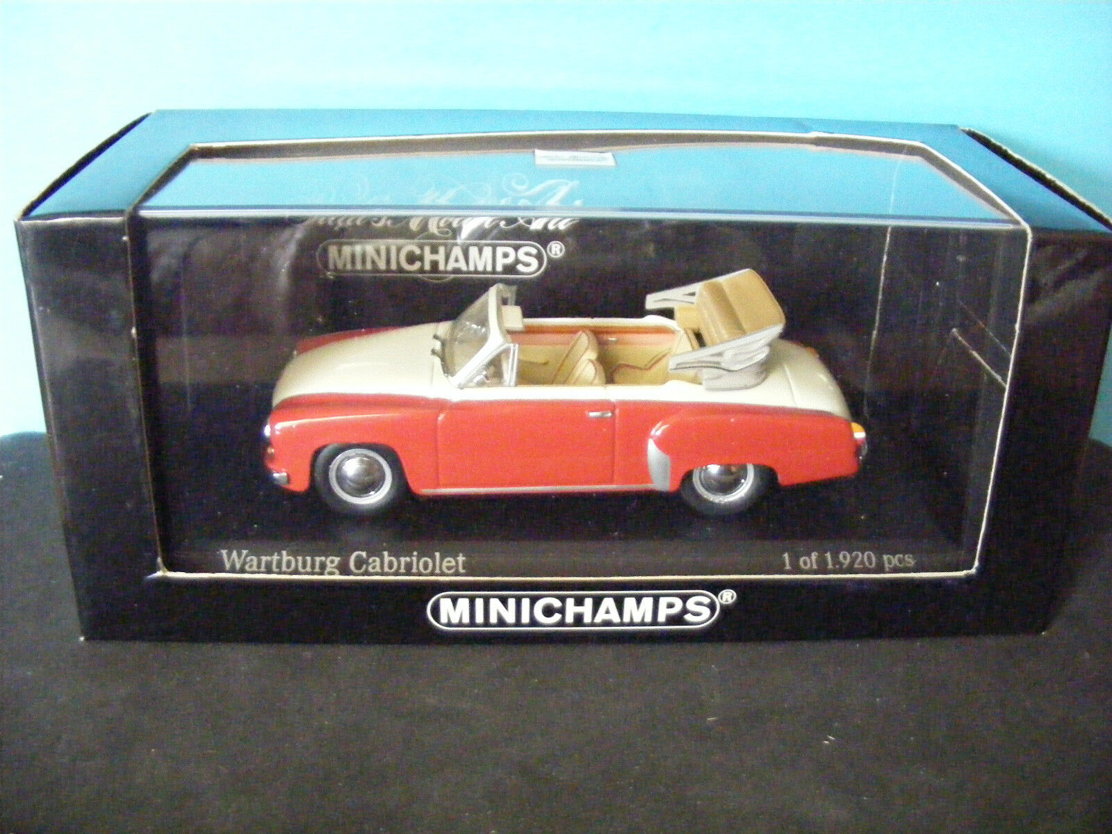 Wartburg Cabriolet in Cream over Red with piped interiorMINICHAMP MODEL1 43 2005