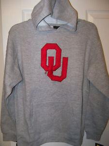 Adidas OU Sooners Gray Hoodie Jacket Boys Youth Size 14 / 16 NWT #8