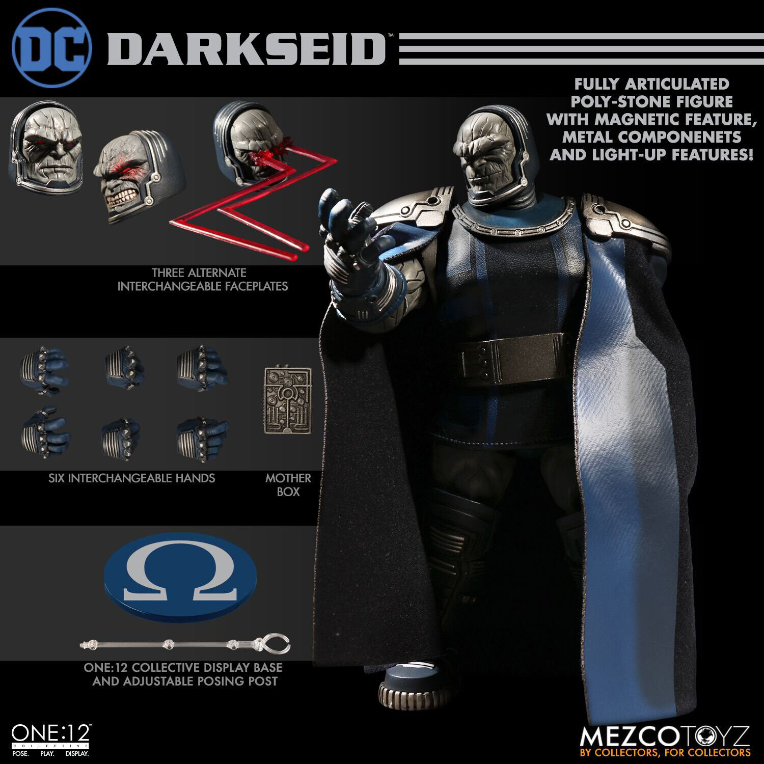 MEZCO DC DARKSEID ONE-12 COLLECTIVE ACTION FIGURE