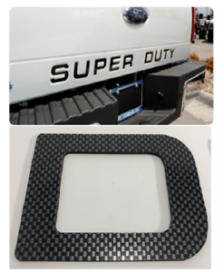 Carbon Fiber Premium Super Duty Tailgate Inserts ABS Letters 2008-2016 Ford F250