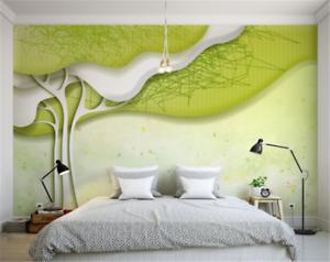 3D green Bemalter Baum 83 Tapete Tapeten Mauer Foto Familie Tapete Wandgemälde DE