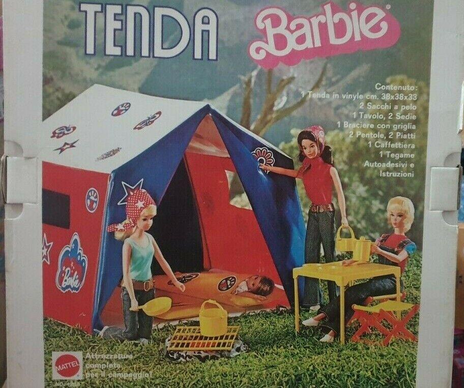 Barbie Mattel Tenda Campeggio Vintage anni 70' RARA