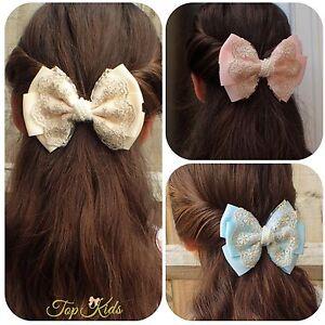 40X Boutique Hair Bows Girls Kids Alligator Clip Grosgrain Ribbon Hair Clips  S*