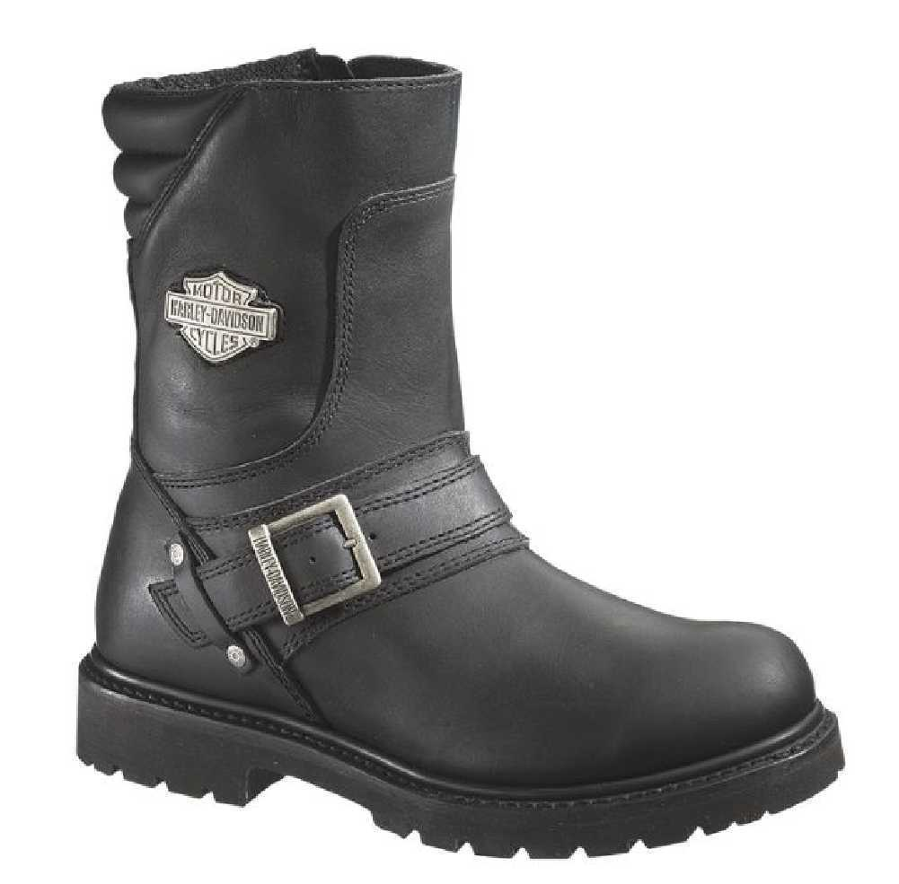 Harley-Davidson Men's Booker Front Strap 8.25-Inch Motorcycle Boots D95194