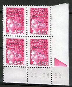 FRANCE-N-3096-NEUF-XX-COIN-DATE-DU-1-4-98-MARIANNE-DE-LUQUET