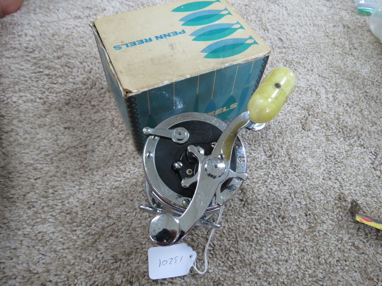 Penn 3 0 Senator fishing reel and box Gelb handle (lot 13201)