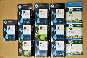 Lot-B-13-Cartouches-d-039-Encre-Original-Origine-HP-88-88XL-HP88XL-Genuine-Inks-New
