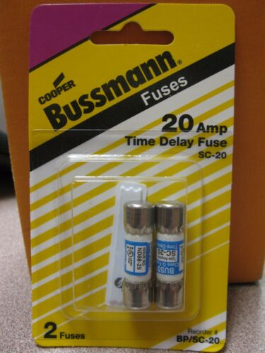 Cooper Bussmann 600V 20A Fuse 2 Pack #BP//SC-20  New in Package Free Ship