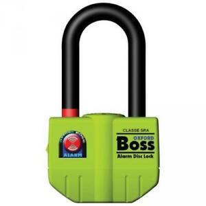 Oxford-Boss-Alarmed-Disc-Lock-Chain-Padlock-Thatcham-Approved-100dB-Alarm-SALE