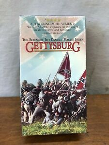 GETTYSBURG-VHS-TOM-BERENGER-JEFF-DANIELS-MARTIN-SHEEN-NEW-SEALED