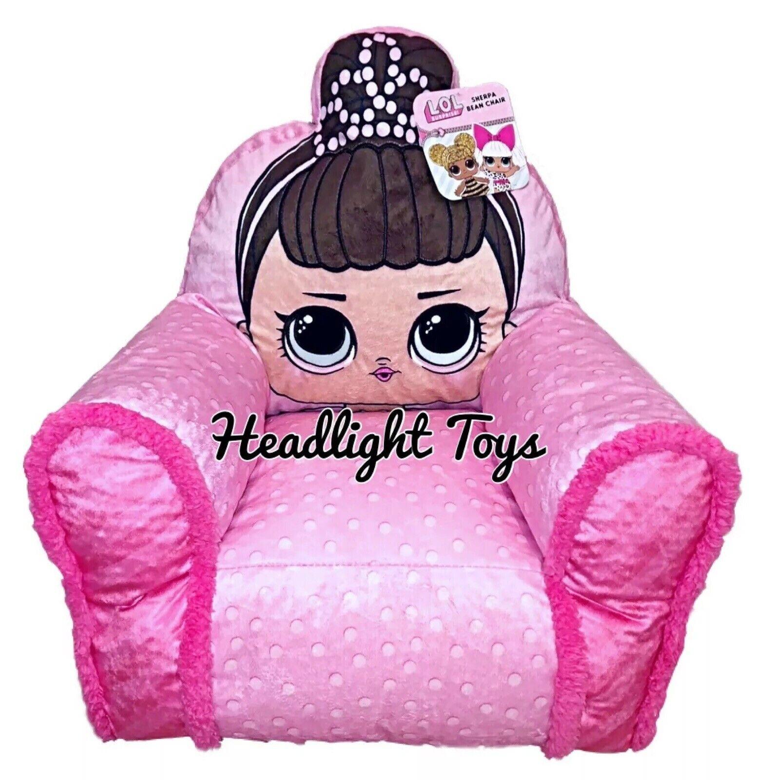 Lol sorpresa muñeca de fantasía rosado Sherpa Bean Silla Decoración Ropa de Cama serie 1 2 5 6 Rara