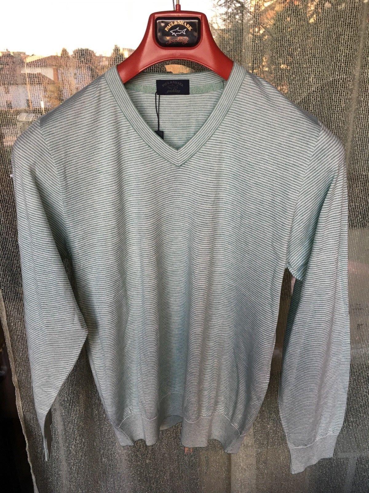 Pull a V  Paul Shark Luxury Collection,Cotone e Cashmire Pelle,Tg. M