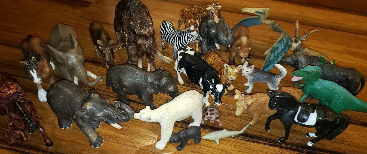 punto de venta SCHLEICH Safari Lote 24 Elefante Cebra Cebra Cebra Tigres osos polares Perro Jirafa Dinosaurio  minoristas en línea