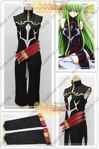 Code Geass C.C 0.1 Suit Cosplay Costume black