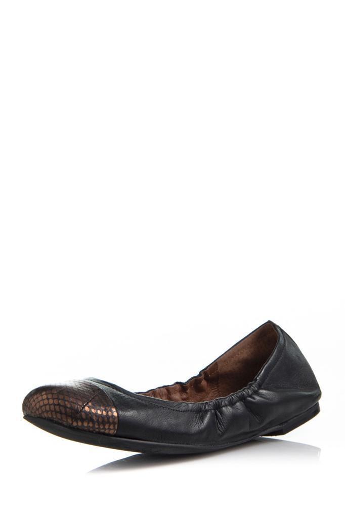 Sam Edelman Baxton 2 Ballet Flat noir Brass Snake Leather Copper NEW