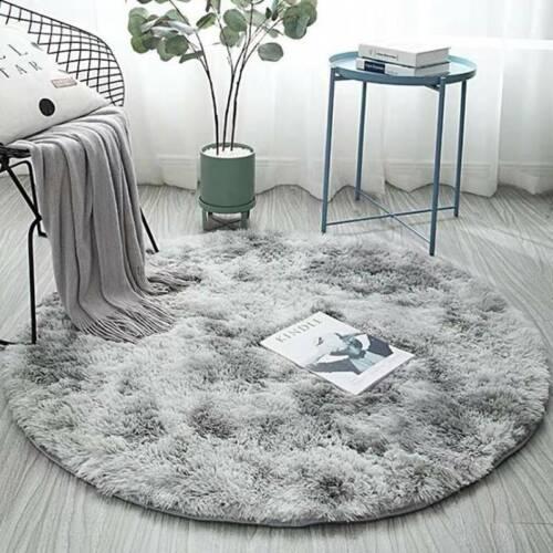 Hochflor Teppich Rund Zimmerteppich Wohnzimmer Shaggy Fleece Matte Teppichboden