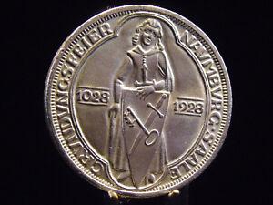 - M.f.b - Weimarer Republik - 3 Mark 1928 A - Naumburg / Saale - F/stg-stg 673
