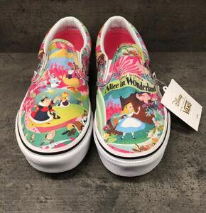 Alice In Wonderland Disney Vans, Size 2.5 UK, New & Unused With ...