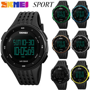 SKMEI-Men-Womens-LED-Sport-Quartz-Analog-Digital-Waterproof-Military-Wrist-Watch