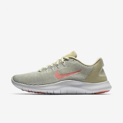 ac77c498595d4 Nike Womens Flex 2018 RN Summer Fossil/Crimson Pulse/White AO2676-200 Size  10.5   eBay
