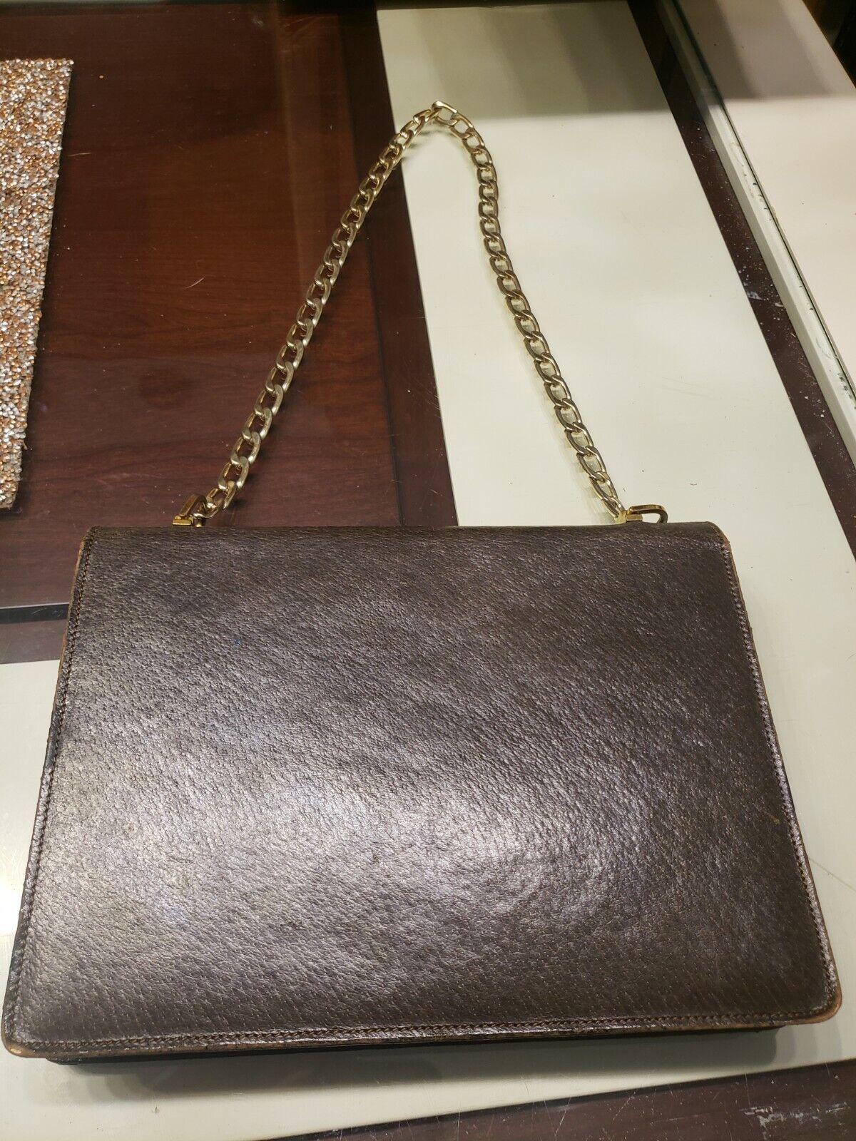 Vintage GUCCI Classic Brown Kelly Purse Handbag T… - image 8