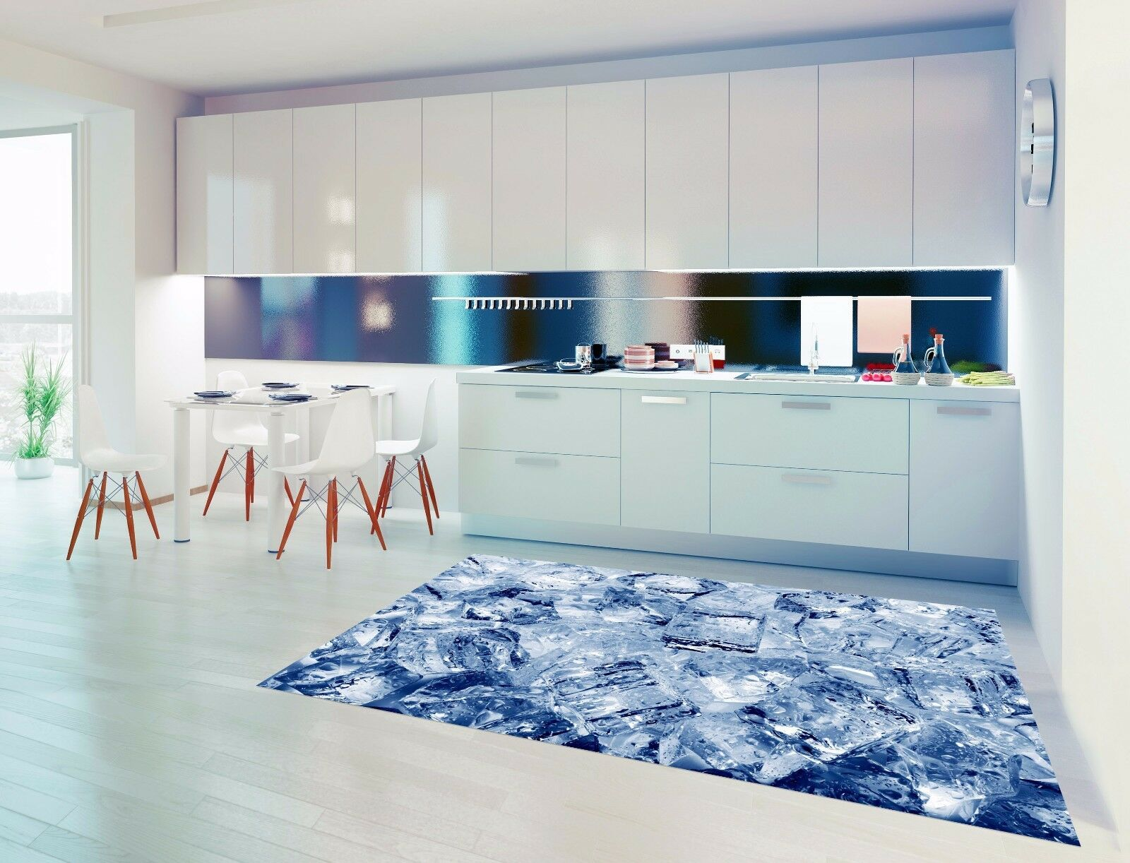 3D Ice Cubes 893 Kitchen Mat Floor Murals Wall Print Wall AJ WALLPAPER AU Carly