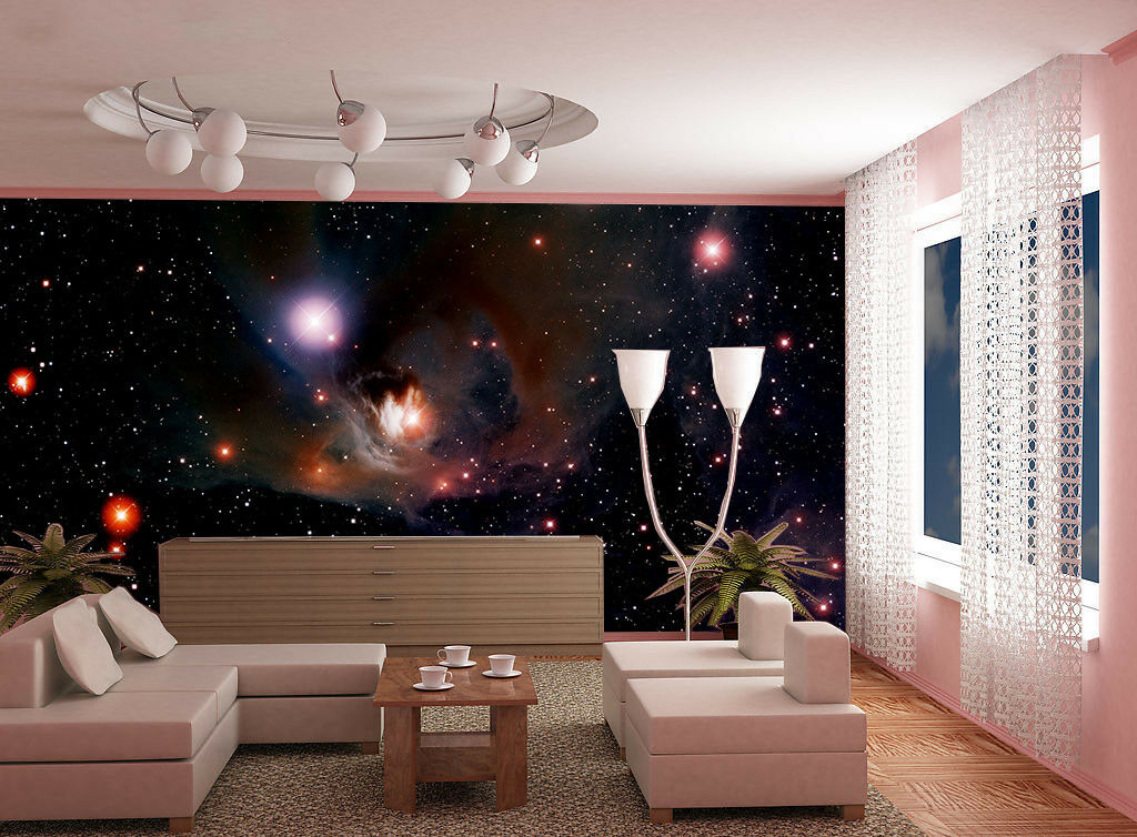 3D Night Planet 848 Wallpaper Mural Paper Wall Print Wallpaper Murals UK Lemon