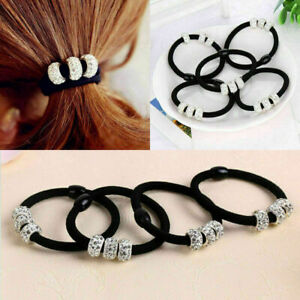 10Pcs-Crystal-Elastic-Hair-Ties-Band-Ropes-Ring-Ponytail-Accessories-Holder-P3F6