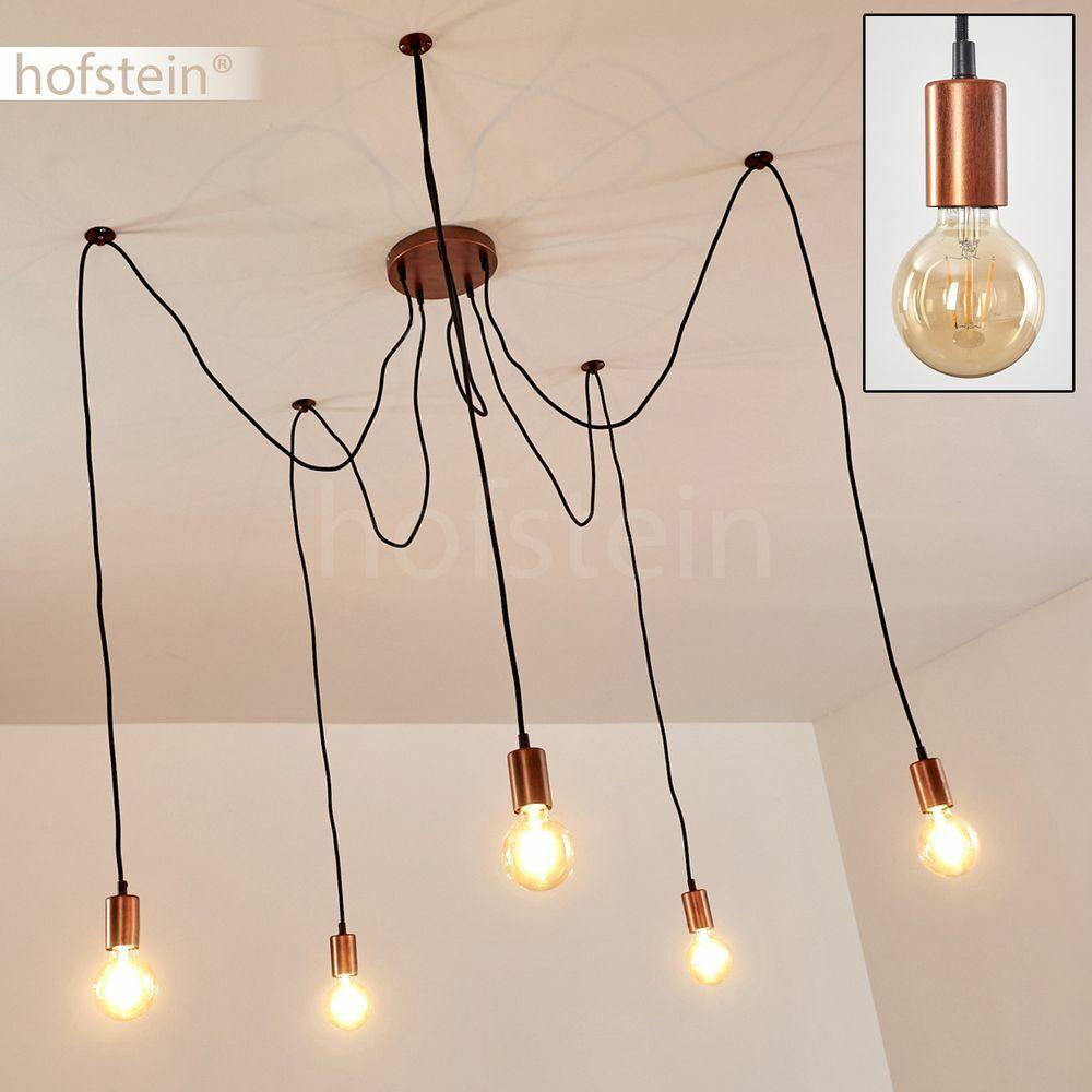 Vintage Pendel Hänge Leuchten Kupfer Wohn Ess Schlaf Zimmer Lampen verstellbar