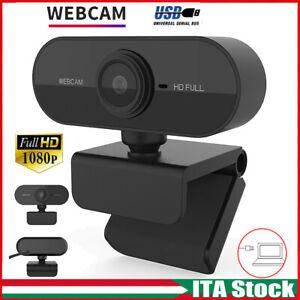 Full HD 1080p Webcam AUTOFOCUS Web Cam con microfono videocamera per PC Laptop