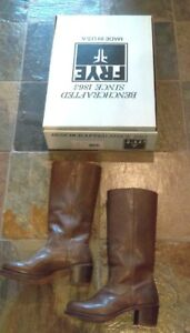 Frye-Sabrina-Brown-Fawn-Color-Pull-On-Boots-w-Box-sz-7-5-Great-condition