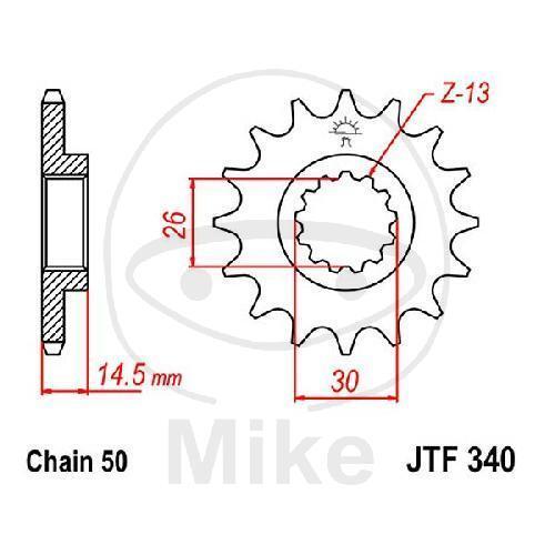 Piñón 18Z Paso 530 JTF340.18