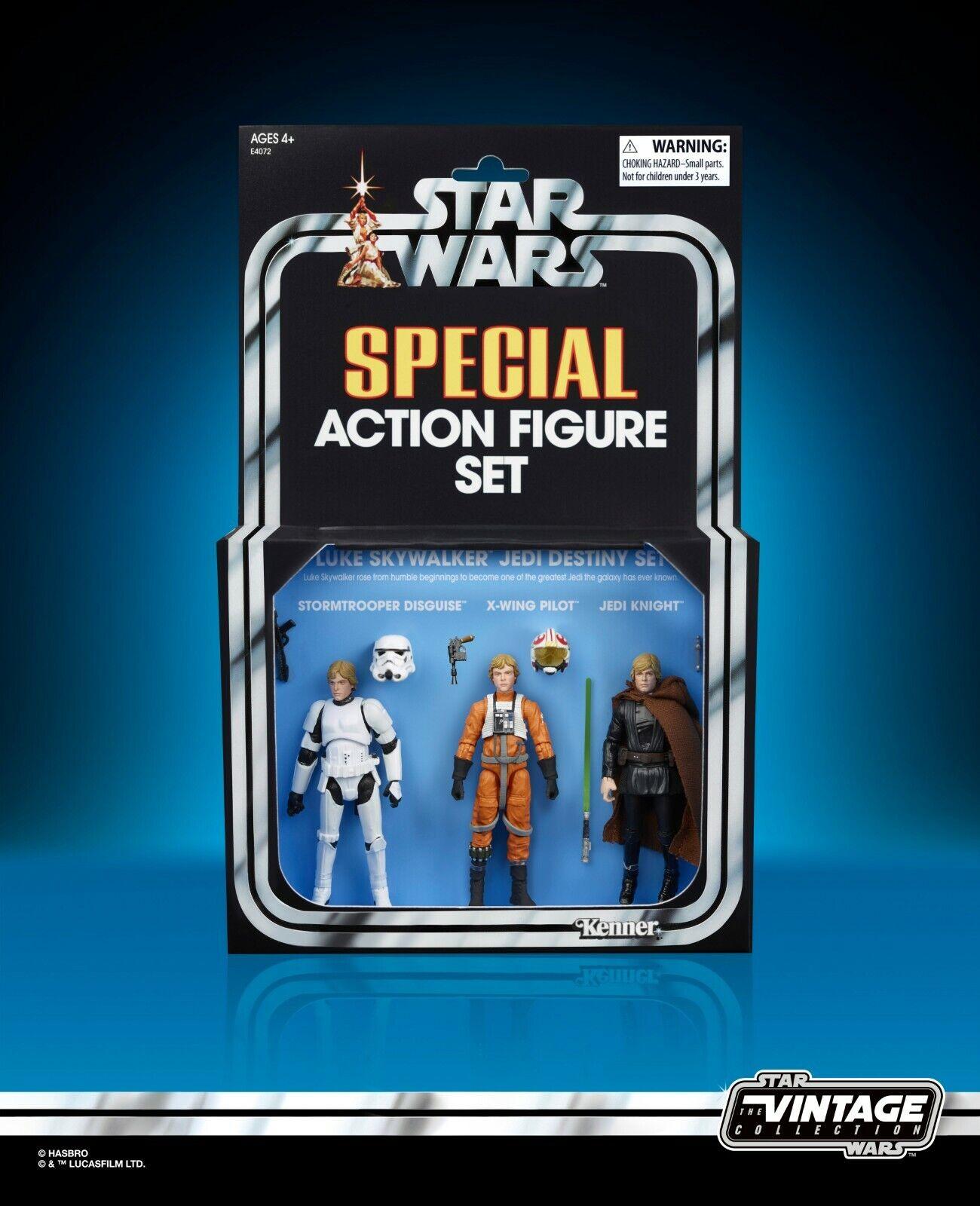 mas barato San Diego comic-con 2019 HASBRO HASBRO HASBRO exclusivo Luke Skywalker Jedi de Estrella Wars Vintage Figuras de destino  mejor reputación