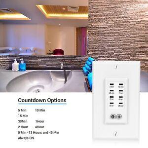 DEWENWILS Bathroom Timer Switch Exhaust Fan In-Wall Light ...