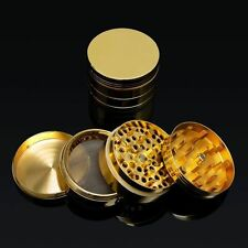 """NEW 2"""" 4pc Metal Hand Muller Herb Spice Tobacco Grinder Crusher Crusher Gold"""