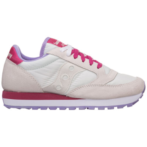 Saucony sneakers donna jazz o/' 1044570 bianco logo Pelle Scamosciata
