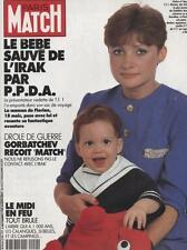 Paris Match  N°2154  6 Szeptembre 1990:Gorbatchev Midi en feu Bebe sauve de l'ir