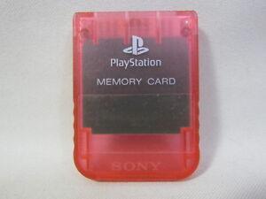Ps Carte Mémoire Cherry Red 15 Blocs Scph-1020 Sony Playstation Officiel Jp 2109 Aix18qco-07173704-182423945