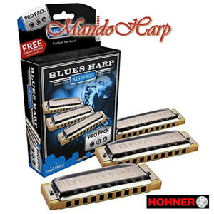 Hohner-Harmonicas-M5330XP-Blues-Harp-MS-Pro-Pack-Keys-A-C-and-G-NEW