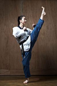 Taekwondo-Poomsae-Dan-Anzug-Ribbed-Damen-WTF-JCalicu-Gr-150-160-170-180-190