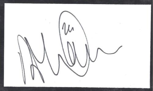 A 13cm x 7.5cm Plain White Card Signed by Anthony McNamee of Norwich City